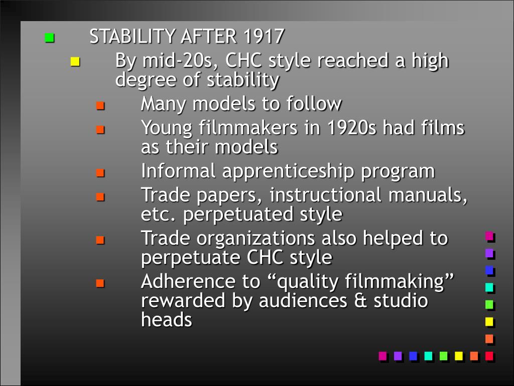 STABILITY AFTER 1917