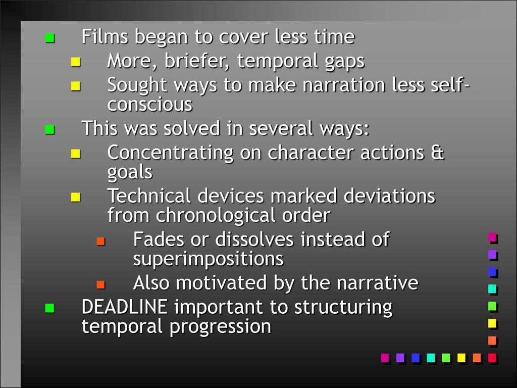 Films began to cover less time