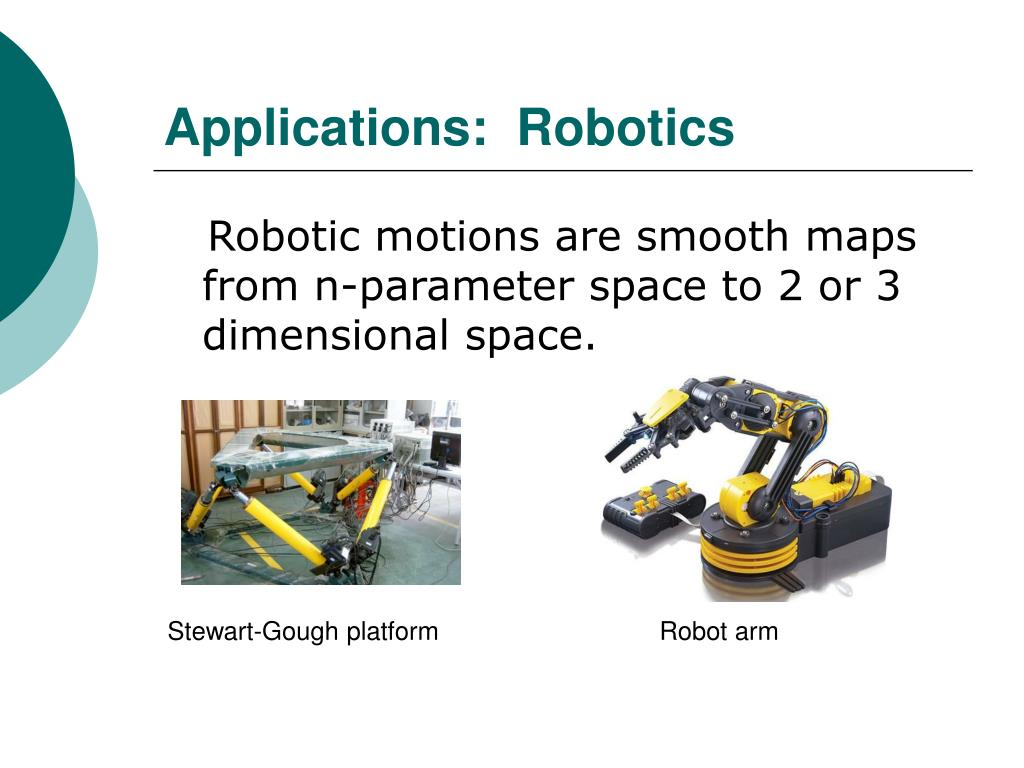 Applications:  Robotics