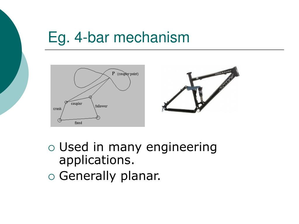 Eg. 4-bar mechanism