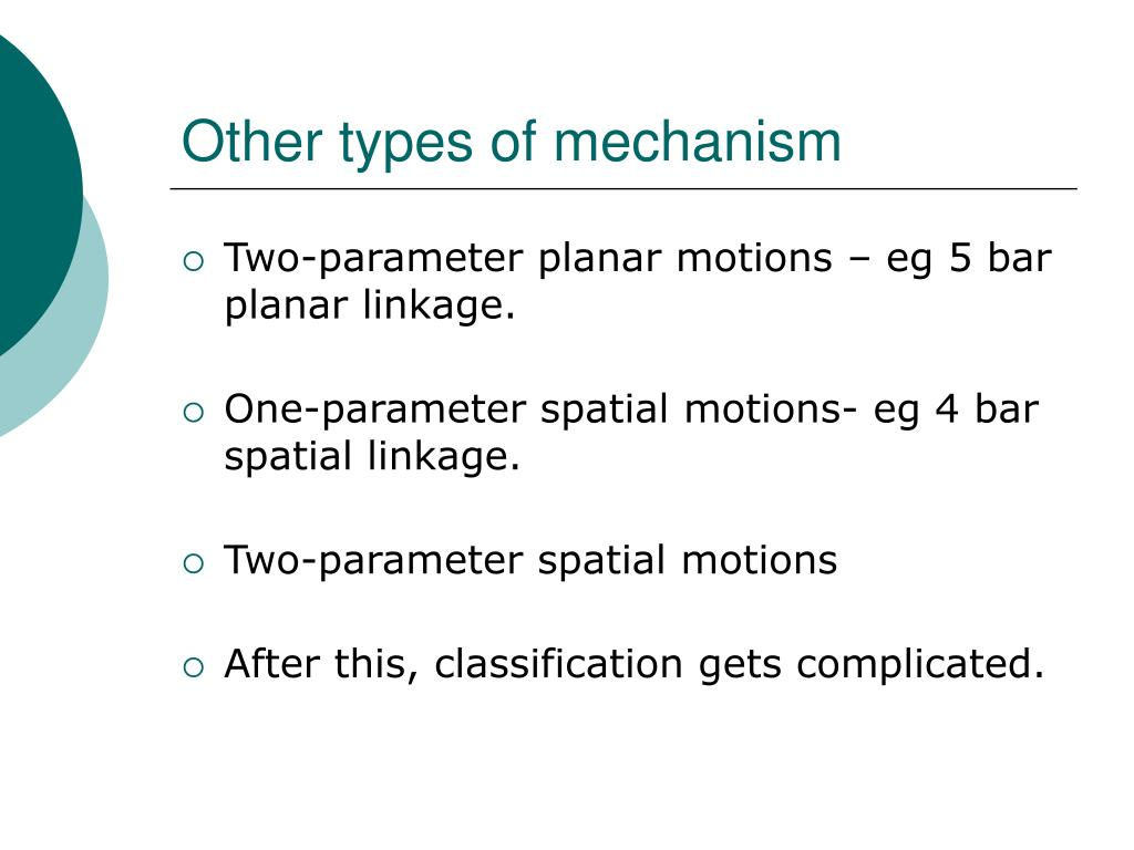 Other types of mechanism