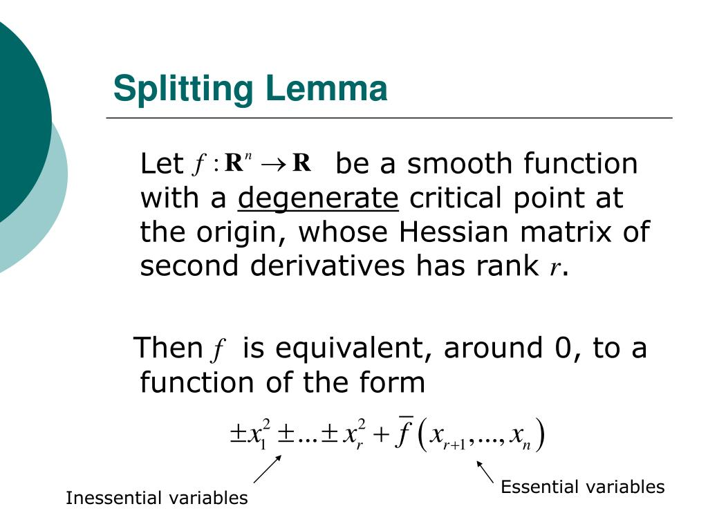 Splitting Lemma