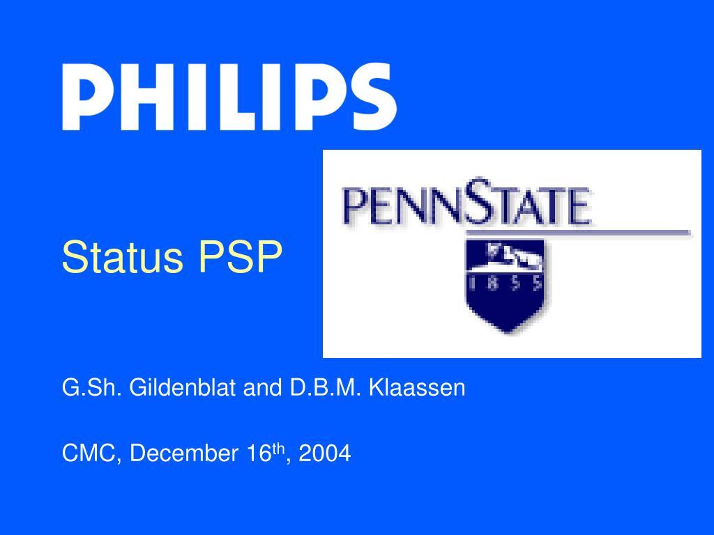 status psp l.