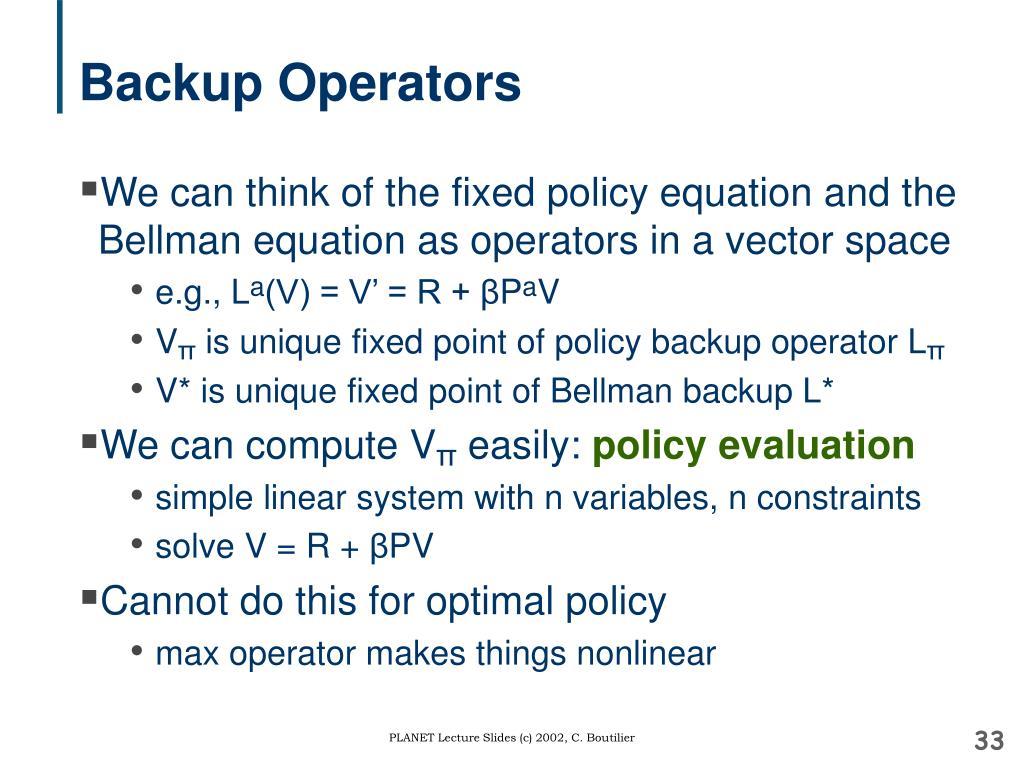 Backup Operators