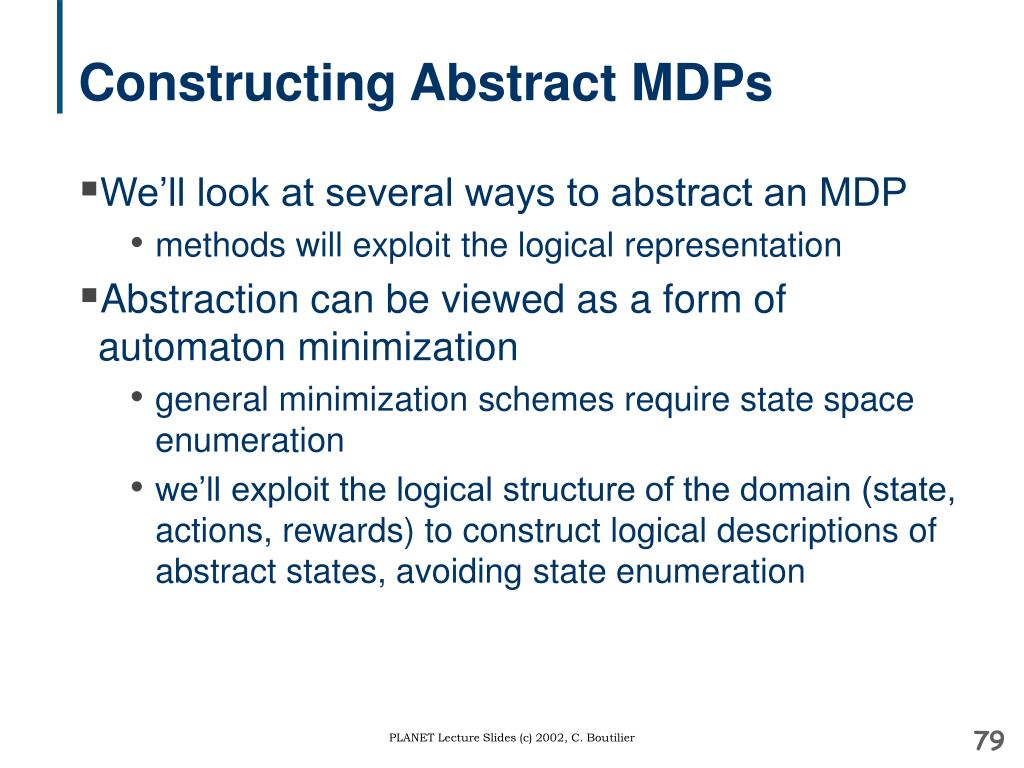 Constructing Abstract MDPs