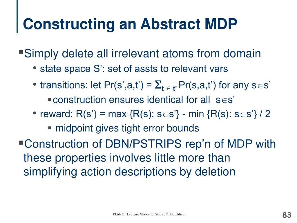 Constructing an Abstract MDP