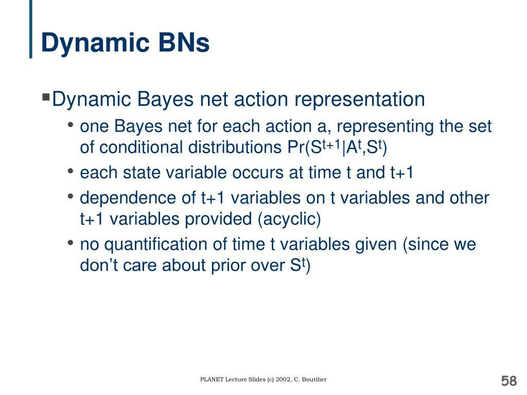 Dynamic BNs