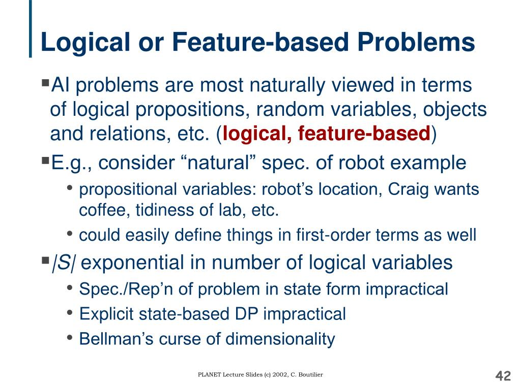 Logical or Feature-based Problems
