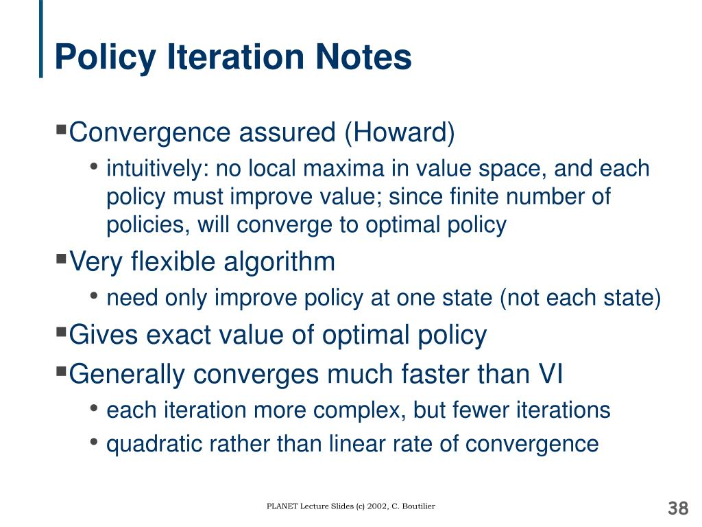 Policy Iteration Notes