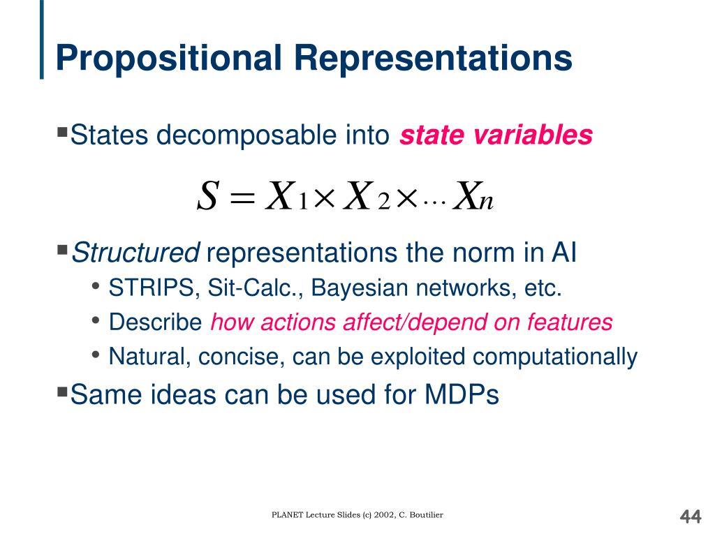 Propositional Representations