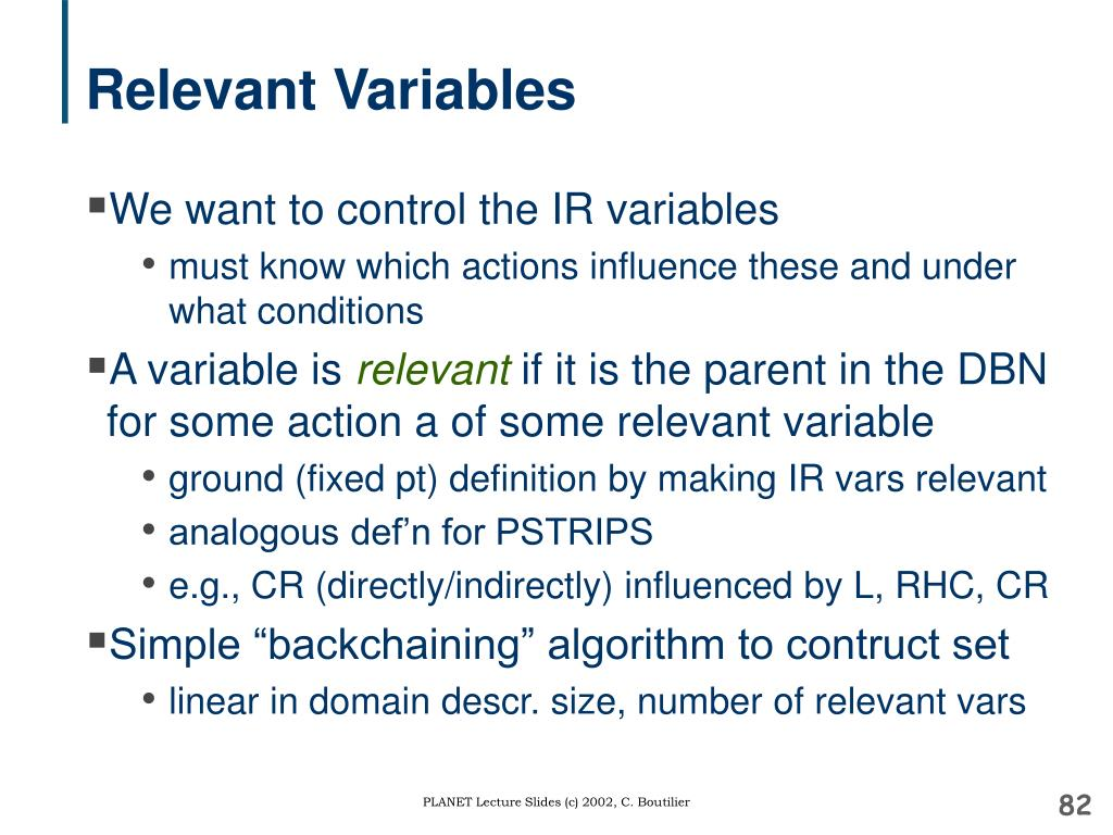 Relevant Variables