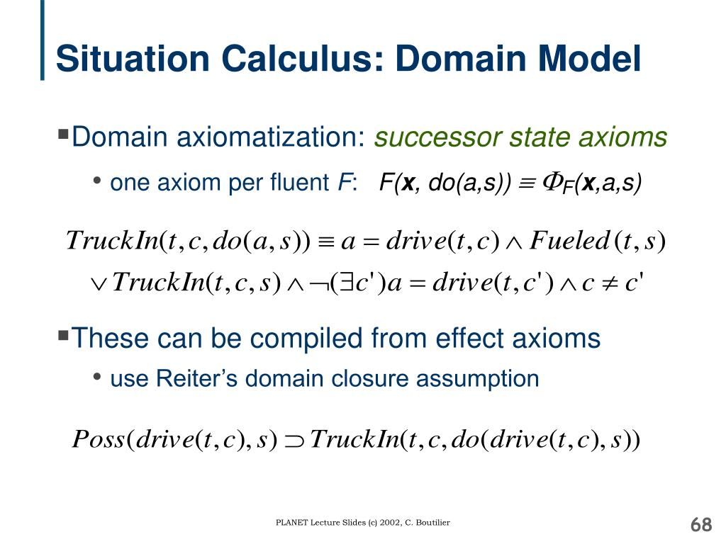 Situation Calculus: Domain Model