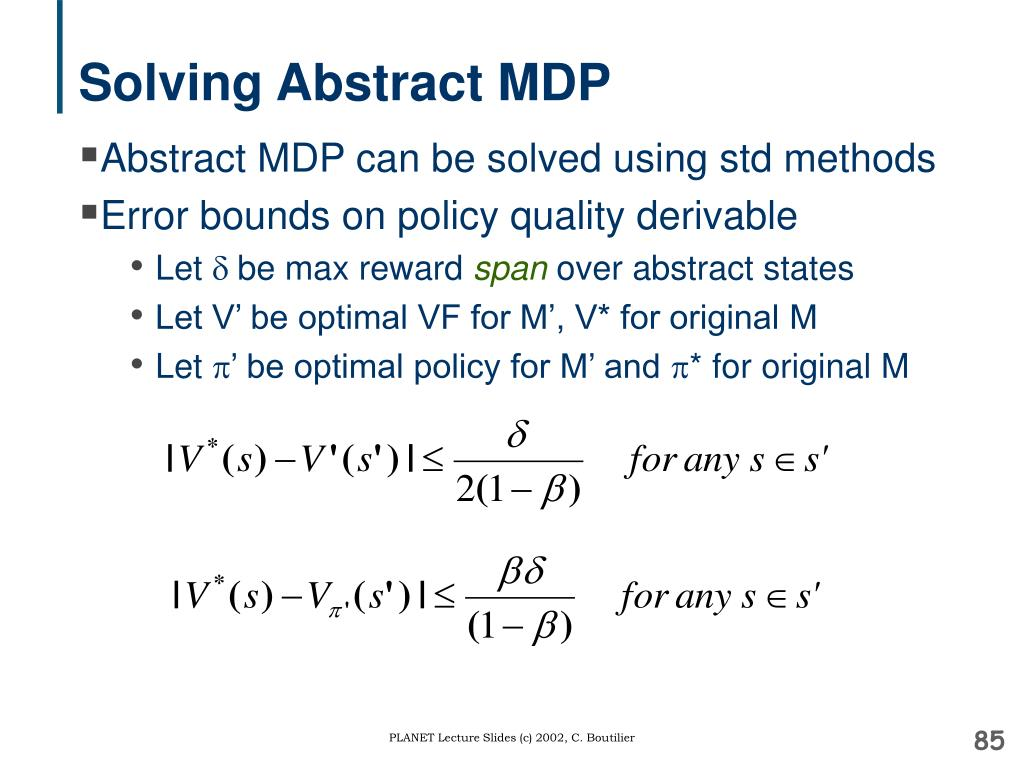 Solving Abstract MDP