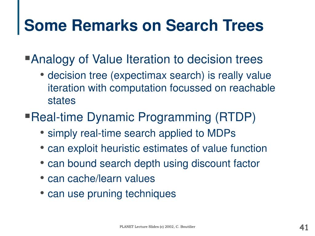 Some Remarks on Search Trees