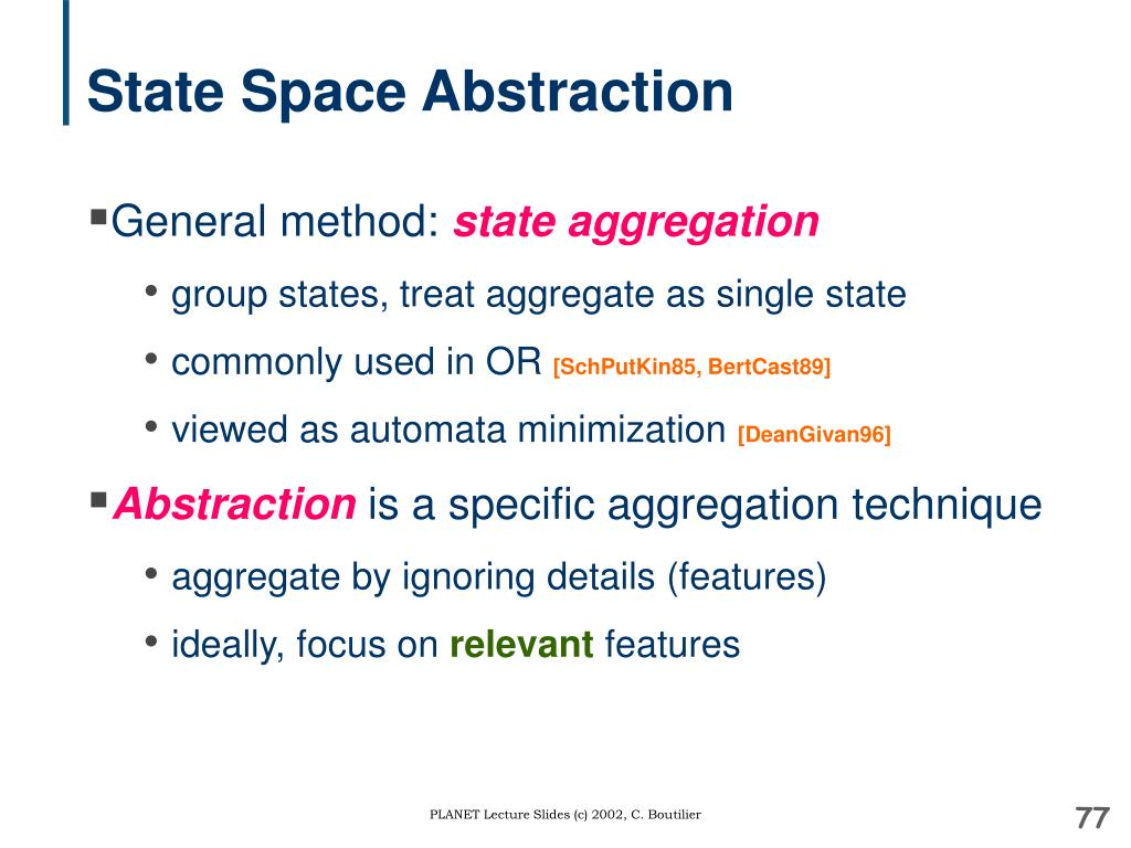State Space Abstraction
