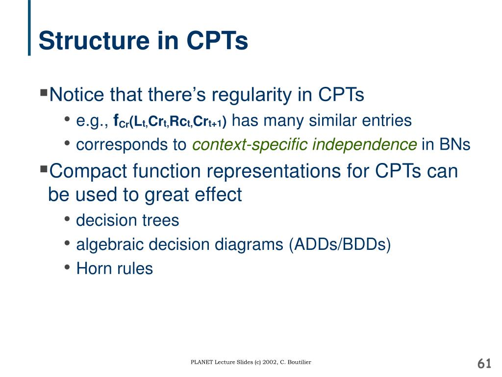 Structure in CPTs