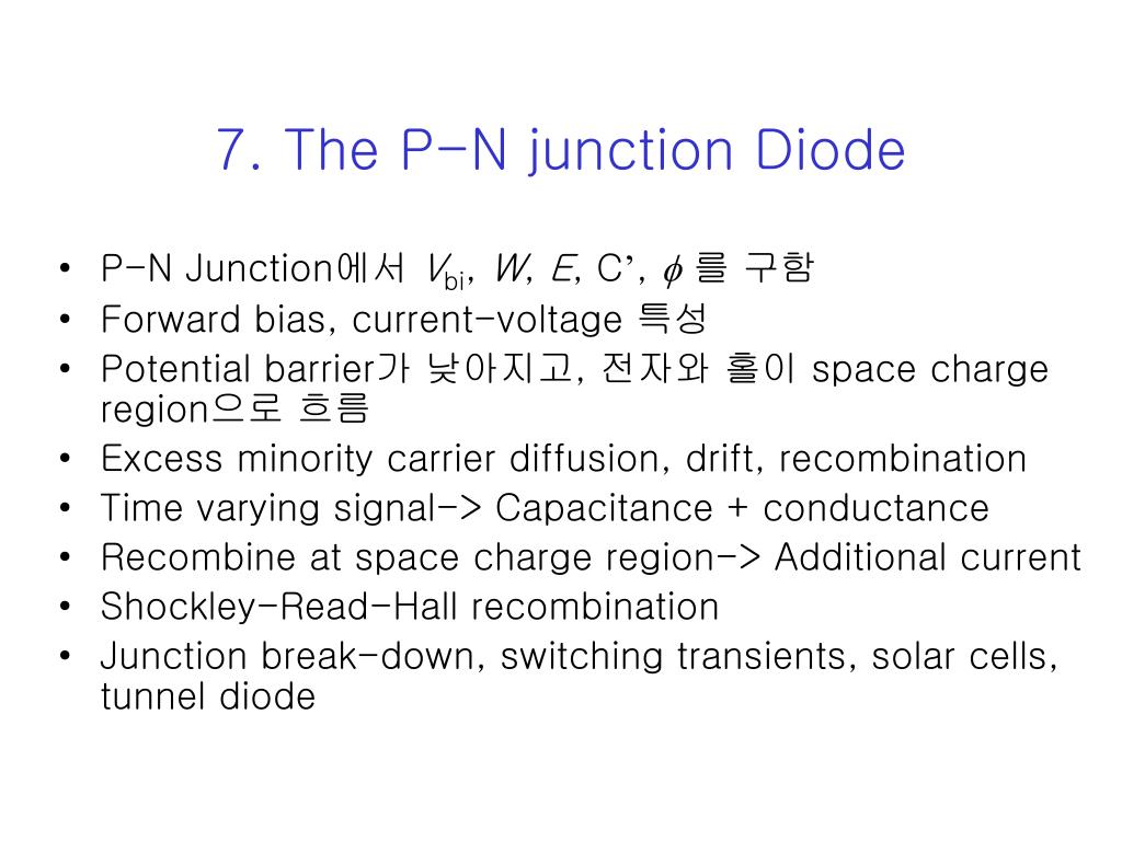7 the p n junction diode l.