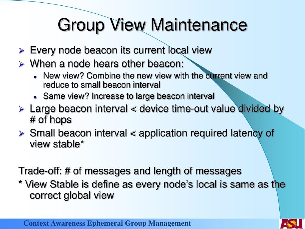 Group View Maintenance