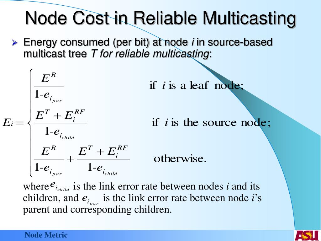 Node Cost in Reliable Multicasting