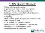 3 mv district council