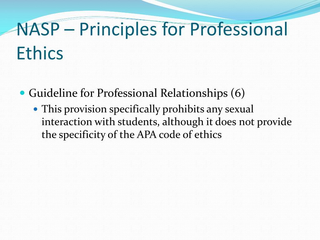 NASP – Principles for Professional Ethics