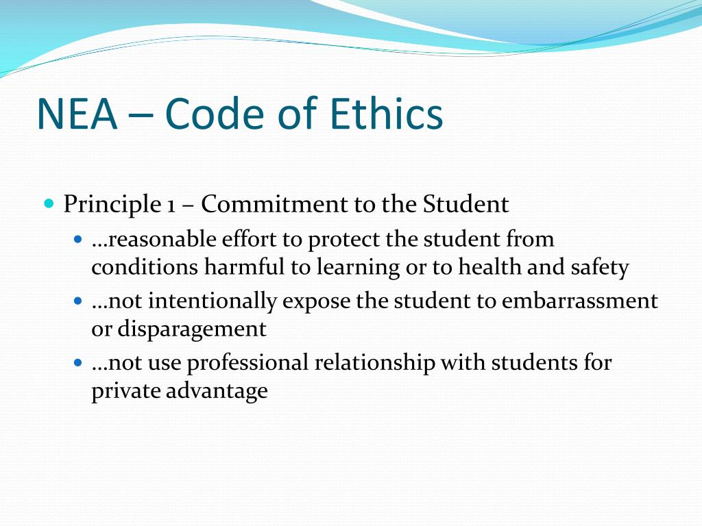 NEA – Code of Ethics