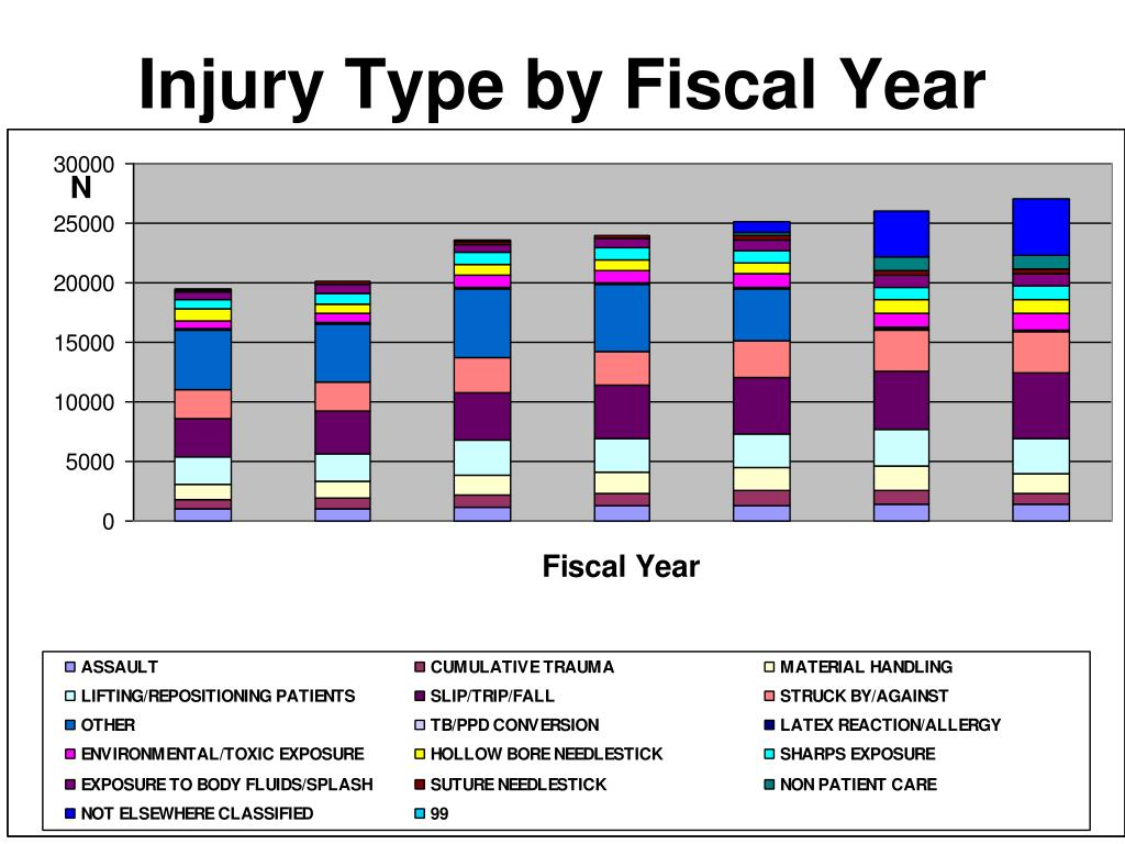 Injury Type by Fiscal Year