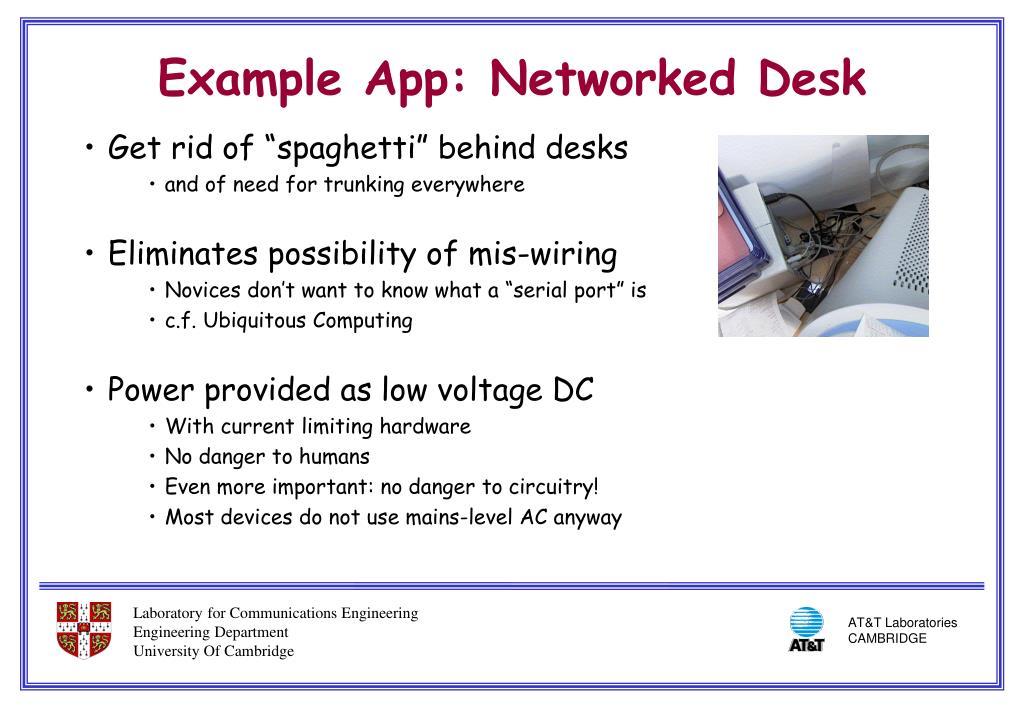 "Get rid of ""spaghetti"" behind desks"