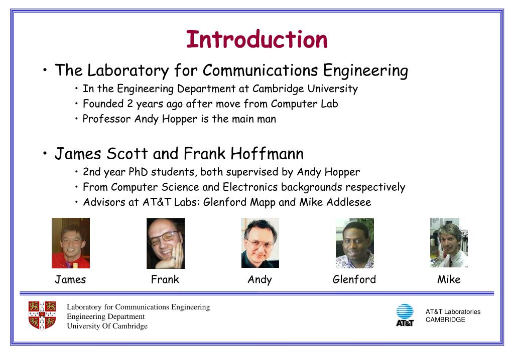The Laboratory for Communications Engineering
