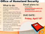 office of homeland security5