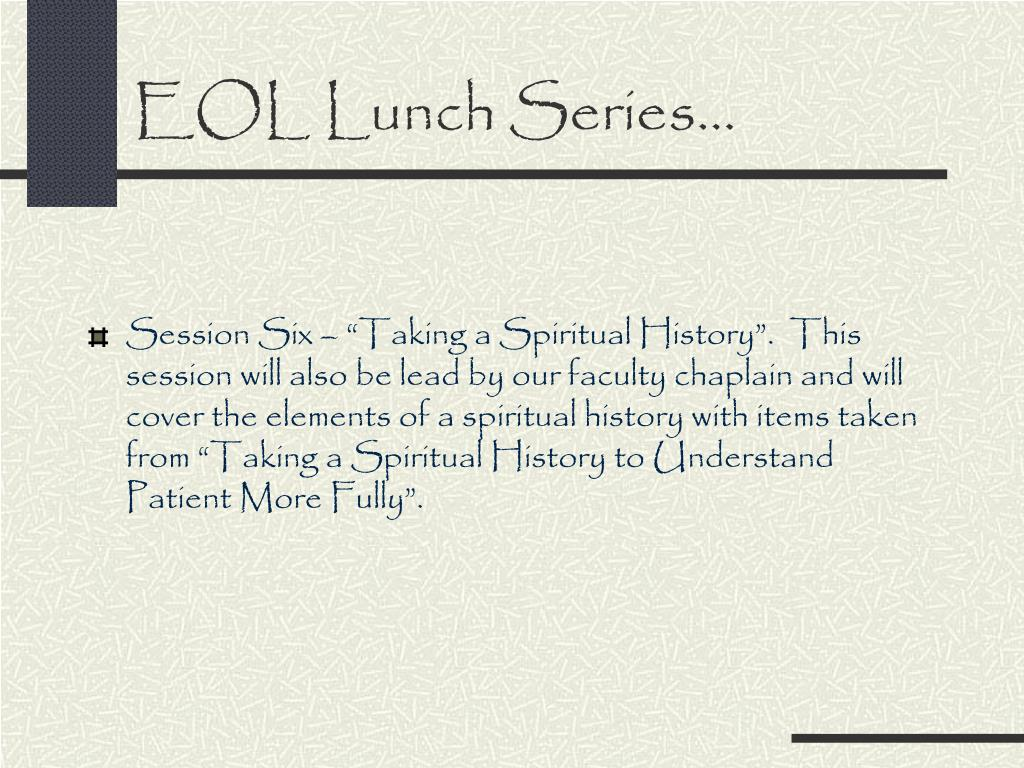 EOL Lunch Series…