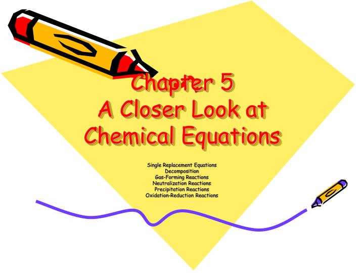 chapter 5 a closer look at chemical equations n.