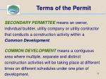 terms of the permit11