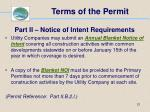 terms of the permit21