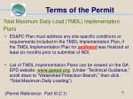 terms of the permit31