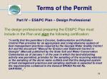 terms of the permit34