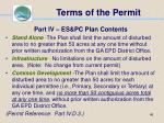 terms of the permit46