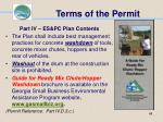 terms of the permit48
