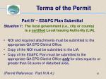 terms of the permit50