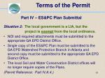 terms of the permit51