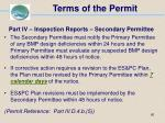 terms of the permit60