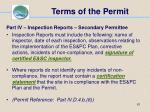 terms of the permit61