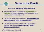 terms of the permit64