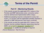 terms of the permit67