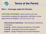 terms of the permit7