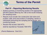 terms of the permit71