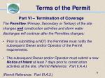 terms of the permit78