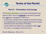 terms of the permit81