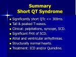 summary short qt syndrome