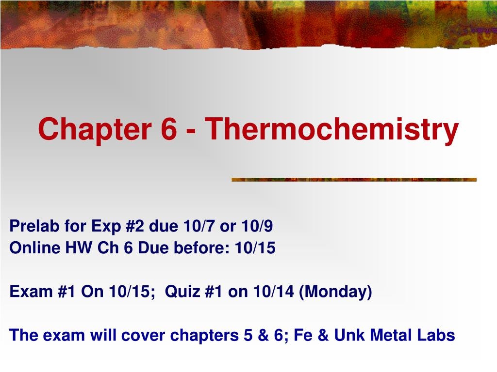 chapter 6 thermochemistry l.